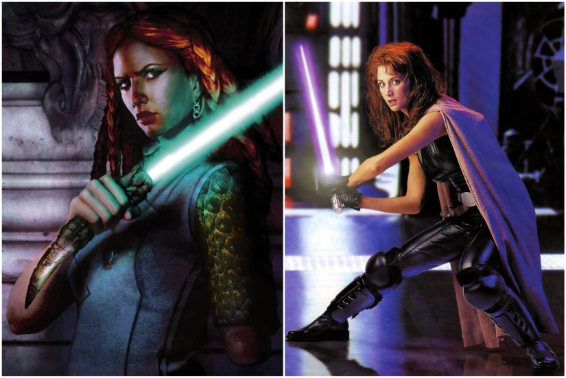 Tenet Ka and Mara Jade. Apparently I have a thing for kickass redheads.