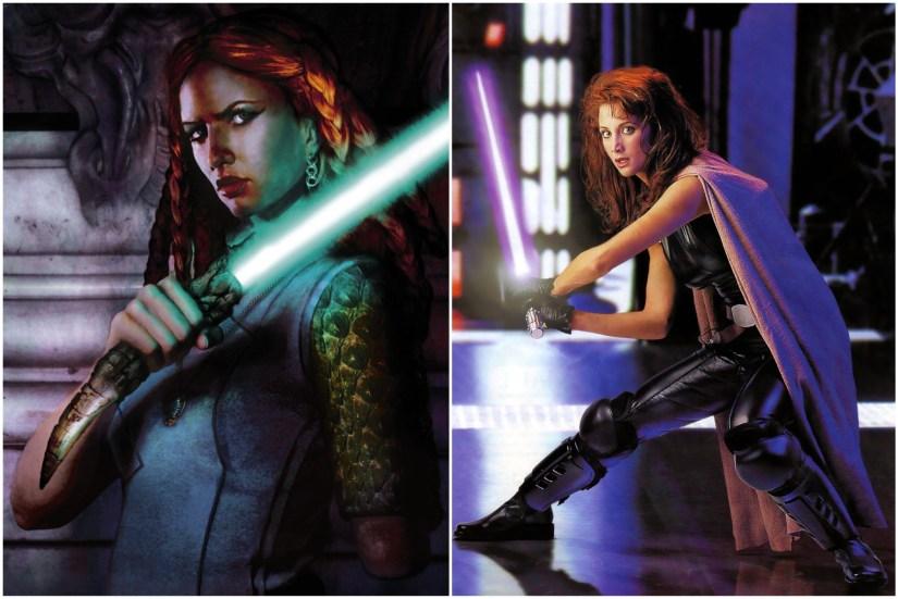 Tenet Ka and Mara Jade. Apparently I have a thing for kickass redheads.