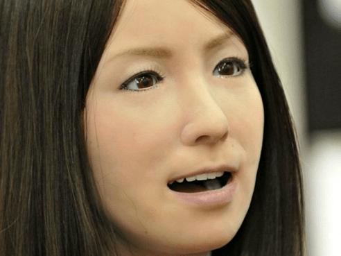 Uncanny robot actress Geminoid F.