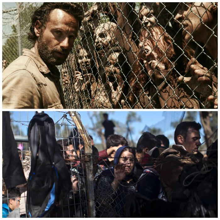 It's not rare to see refugees described and depicted as an invading horde.