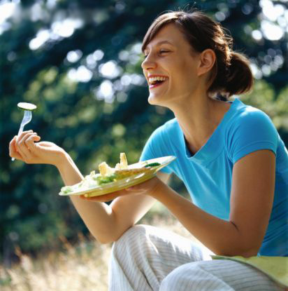 From the delightful 'women laughing alone with salad' meme