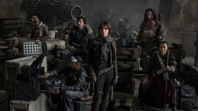The main cast of Rogue One: A Star Wars Story.