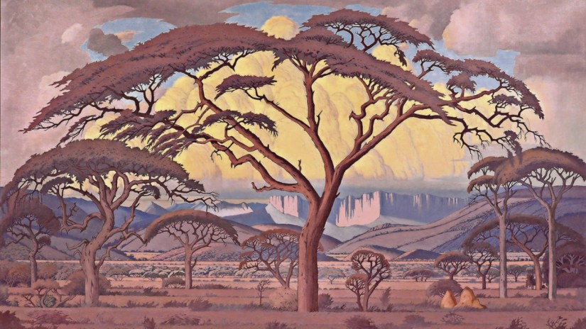 'Thorn Tree at Dusk' by Jacob Pierneef