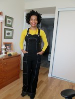Extra long Luscious overalls pinned at the hem