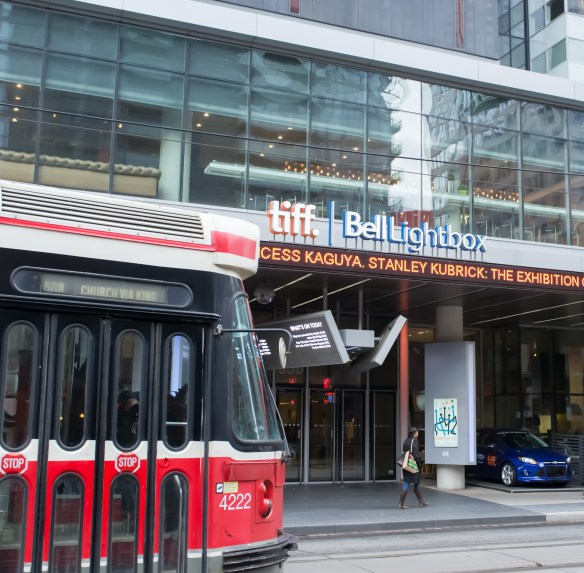 Home of the renowned Toronto International Film Festival with a ubiquitous Toronto trolley car.