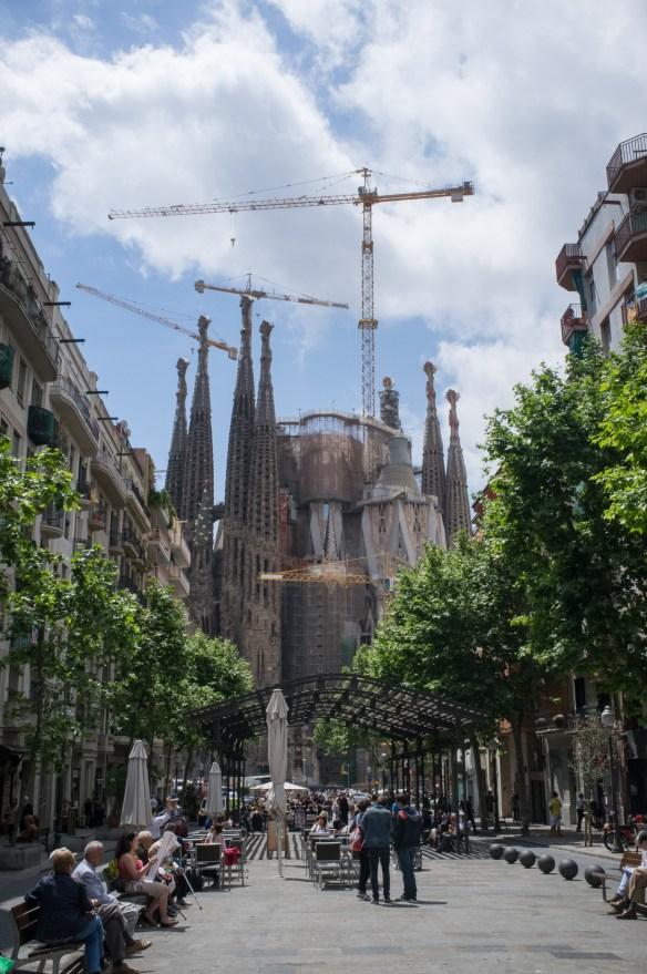 La Sagrada Familia church.