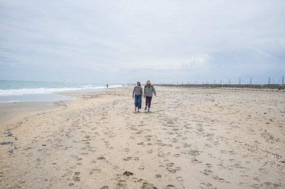 The wonderful long beach at Agde.