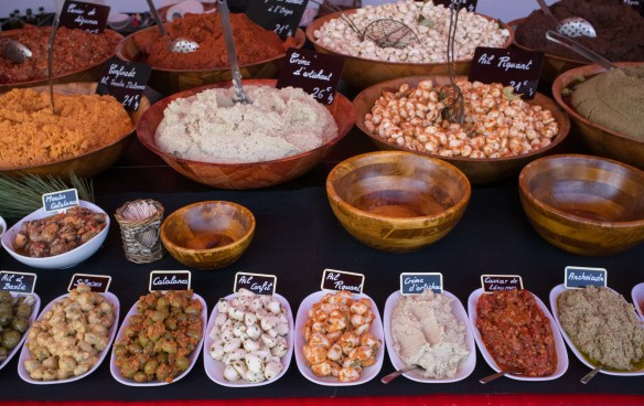 Varieties of just about everything are found in the daily markets in the villages of the Languedoc.