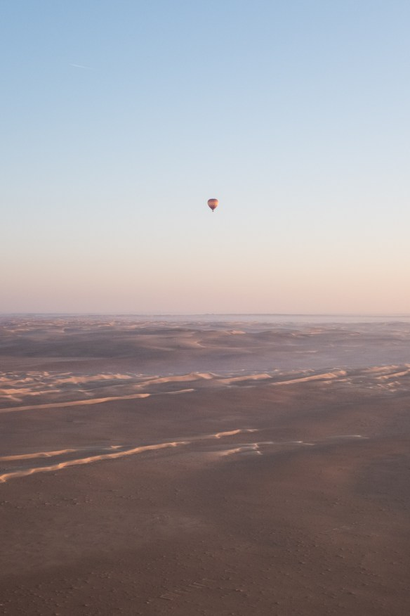 A desert hot air ballon voyage can be dreamy.