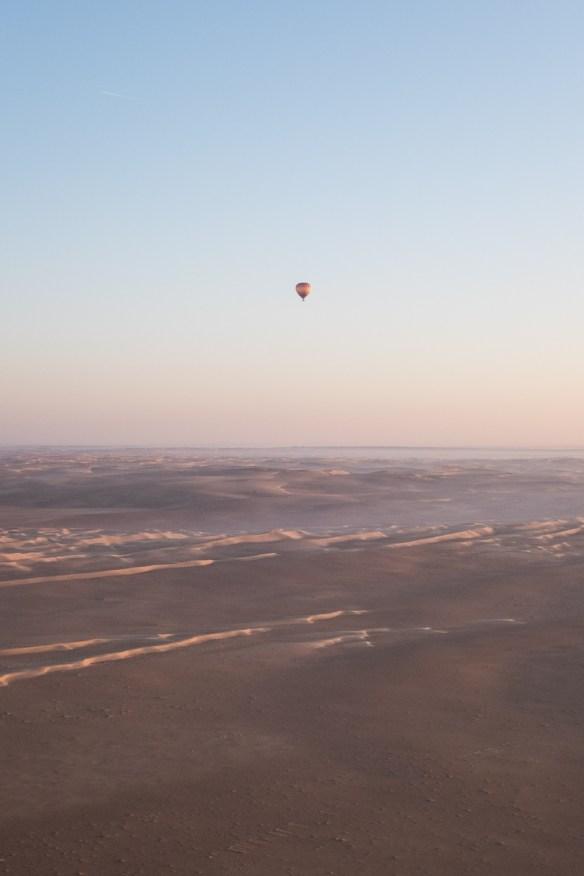A desert hot air ballon voyage can be dreamy.
