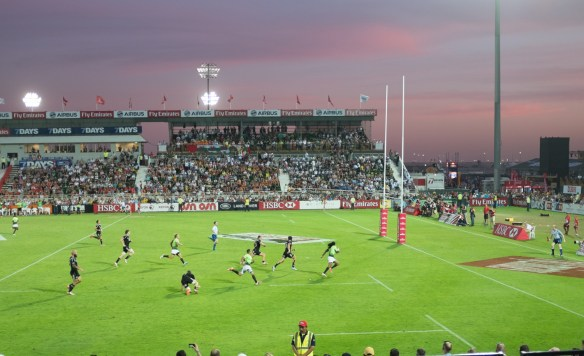 Rugby Sevens international tournament at Dubai's rugby stadium.