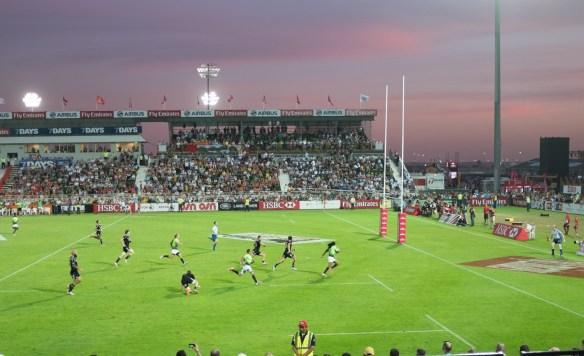 Rugby Sevens international tournament at Dubai's rugby stadium.