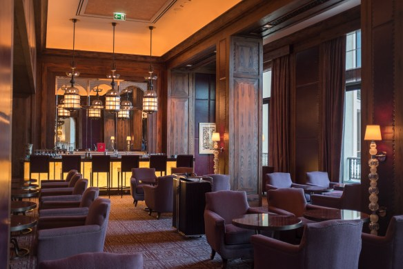 The stately Hendricks Bar off Four Seasons Dubai's lobby is a leathery throwback to a British Club.