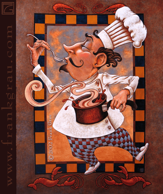 Cooking With Oil  Frank Grau Illustration