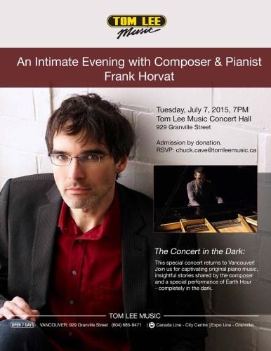 Tom Lee Music Hall presents Frank Horvat in Concert in Vancouver