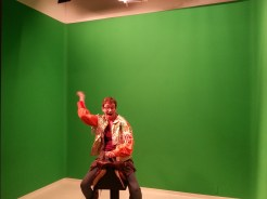 """Green Screen fun at the Gene Autry Museum (Elizabeth """"Liz""""). Photograph by Rosemary Irvine"""