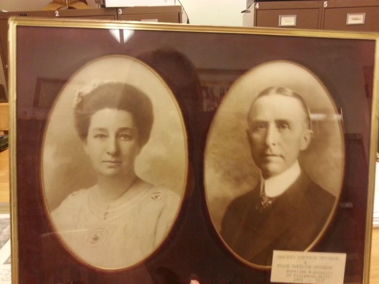 MSMC Archive photograph of Mrs. Eugenie Spearman (left) and Frank H. Spearman (left). Photograph by Rosemary Irvine