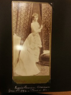 MSMC Archive photograph of Eugenie Lonergan (later Mrs. Spearman) in 1884. Photograph Rosemary Irvine