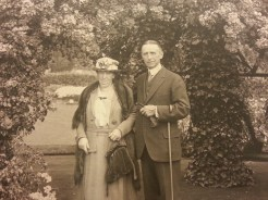 MSMC Archive photograph of Mrs. Eugenie Spearman (left) and Mr. Frank H. Spearman (right) in 1921 at the Empress Hotel in Brittish Columbia. Photograph by Rosemary Irvine