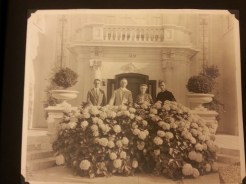 MSMC Archive photograph of Mr. Frank H. Spearman center left and Mrs. Eugenie Spearman center right (1920). Photograph by Rosemary Irvine