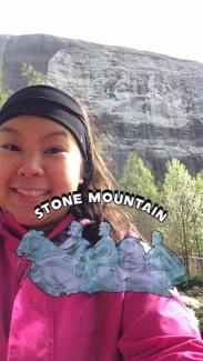 ATL Stone Mnt - picture geotrack courtesy of snapchat
