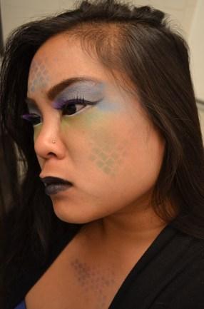 Purple eye lashes