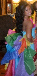 Back of the tissue paper dress