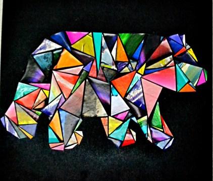 Geometric Bear with Magazine