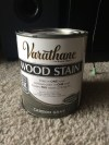 Carbon Gray wood stain I used