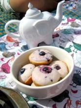 Tea Pot & blueberry muffins