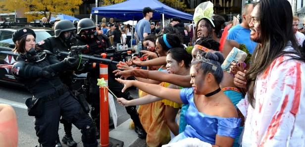 Zombie Princesses against Umberlla Corps