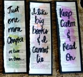 Watercolor bookmark bookpaper