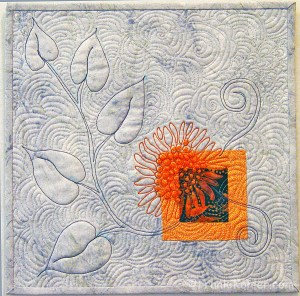 "Franki Kohler, Sunflower Scrap III, 12"" x 12"", 2012, For Sale"