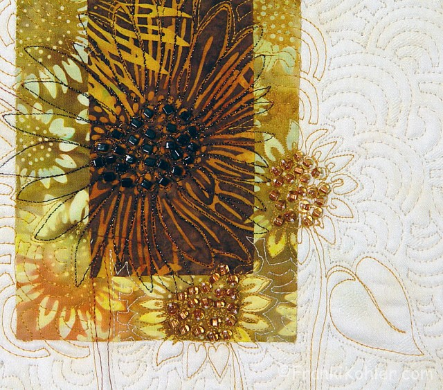 Franki Kohler, Sunflower Scrap V, detail