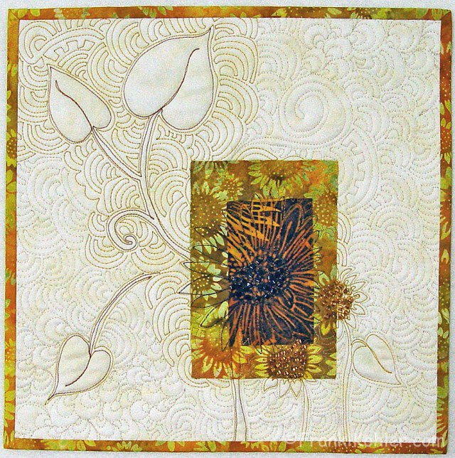 "Franki Kohler, Sunflower Scrap V, 12"" x 12"", 2013, For Sale"