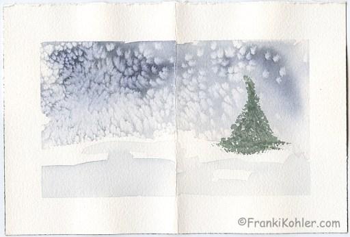 """Franki Kohler, Watercolor 3, 6"""" x 9"""""""