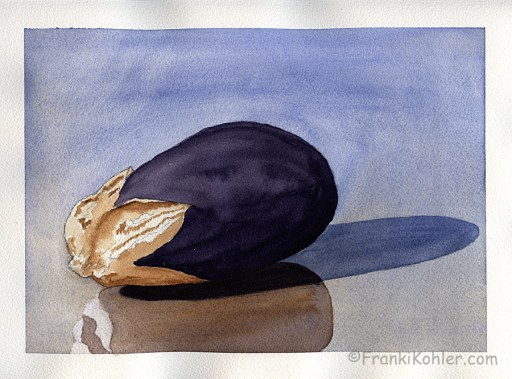 Franki Kohler, Eggplant with shadow and reflection