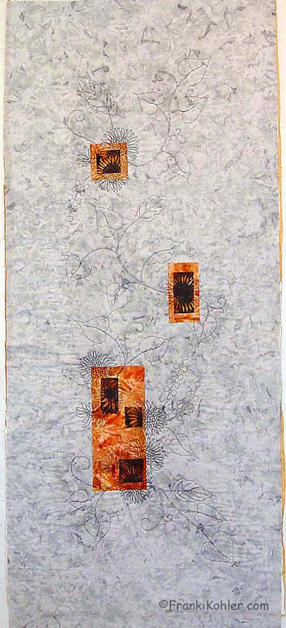 Franki Kohler, Sunflower Scrap VI Initial quilting