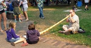 Farmer market didgeridoo