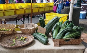 Farmer market weapon size zucchini