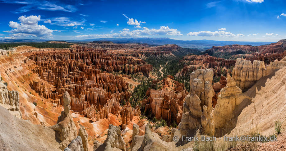 Amphitheater fra Inspiration Point i Bryce Canyon National Park, Utah, USA