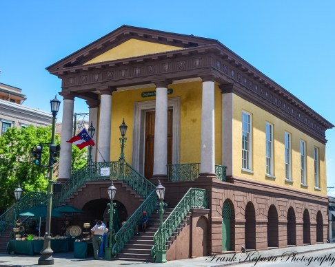Beautiful example of southern architecture. Building is the Daughters of the Confederacy Museum in Charleston, SC