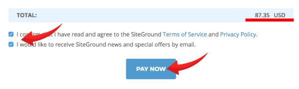 siteground-結帳金額確認