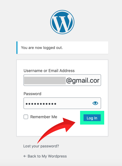 網站架設 :wordpress 後台登入