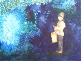 Laterne, Laterne, Sonne, Mond und Sterne ... (c) Aquarell von FRank Koebsch