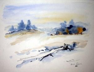 Winter (c) Aquarell von Hanka Koebsch
