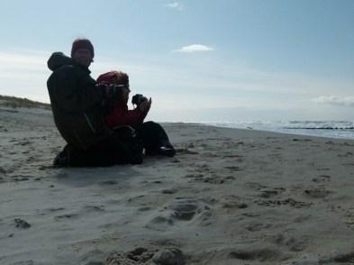 Begeisterung für den Ostseestrand Christiane Weidner und Susanne Haun (c) Frank Koebsch