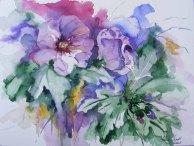 Hibiskus - immer wieder eine Pracht (c) Aquarell von Hanka Koebsch