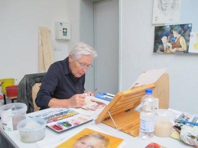 Aquarellkurs Grundlagen Portrait (c) Gertraude Ammoser (3)