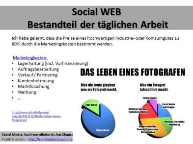 Das Social WEB ist Bestandteil der täglichen Arbeit und der Marketingkosten (c) Frank Koebsch